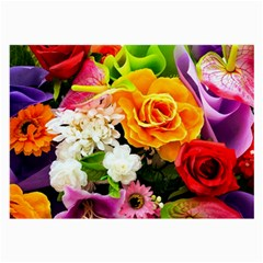Colorful Flowers Large Glasses Cloth