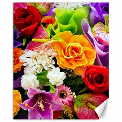 Colorful Flowers Canvas 11  X 14