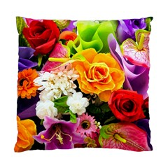 Colorful Flowers Standard Cushion Case (one Side)