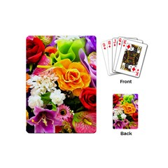 Colorful Flowers Playing Cards (mini)