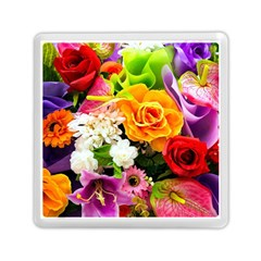 Colorful Flowers Memory Card Reader (square)