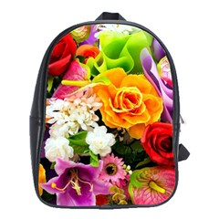 Colorful Flowers School Bags (xl)