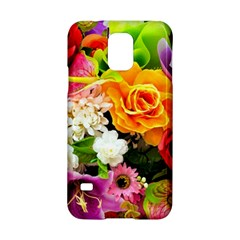 Colorful Flowers Samsung Galaxy S5 Hardshell Case