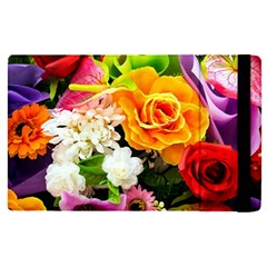Colorful Flowers Apple Ipad Pro 9 7   Flip Case