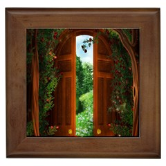 Beautiful World Entry Door Fantasy Framed Tiles