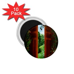 Beautiful World Entry Door Fantasy 1 75  Magnets (10 Pack)