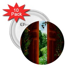 Beautiful World Entry Door Fantasy 2 25  Buttons (10 Pack)