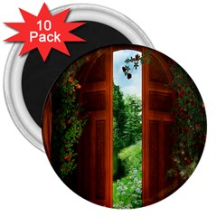 Beautiful World Entry Door Fantasy 3  Magnets (10 Pack)