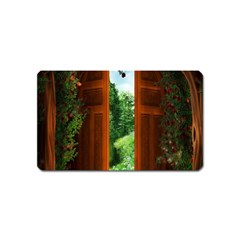 Beautiful World Entry Door Fantasy Magnet (name Card)