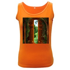Beautiful World Entry Door Fantasy Women s Dark Tank Top