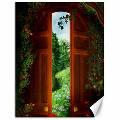 Beautiful World Entry Door Fantasy Canvas 12  X 16