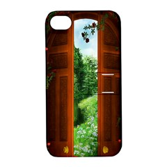 Beautiful World Entry Door Fantasy Apple Iphone 4/4s Hardshell Case With Stand