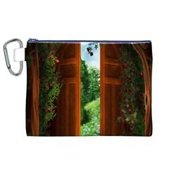 Beautiful World Entry Door Fantasy Canvas Cosmetic Bag (xl)