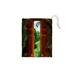 Beautiful World Entry Door Fantasy Drawstring Pouches (xs)