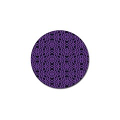 Triangle Knot Purple And Black Fabric Golf Ball Marker