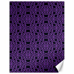 Triangle Knot Purple And Black Fabric Canvas 12  X 16