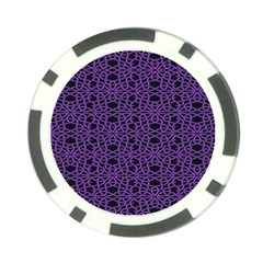 Triangle Knot Purple And Black Fabric Poker Chip Card Guard