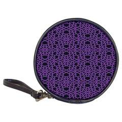 Triangle Knot Purple And Black Fabric Classic 20 Cd Wallets