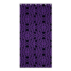 Triangle Knot Purple And Black Fabric Shower Curtain 36  X 72  (stall)