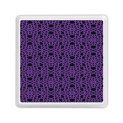 Triangle Knot Purple And Black Fabric Memory Card Reader (square)