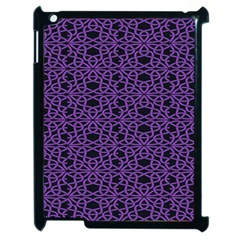 Triangle Knot Purple And Black Fabric Apple Ipad 2 Case (black)
