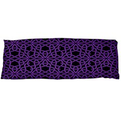 Triangle Knot Purple And Black Fabric Body Pillow Case Dakimakura (two Sides)