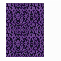 Triangle Knot Purple And Black Fabric Large Garden Flag (two Sides)