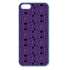 Triangle Knot Purple And Black Fabric Apple Seamless Iphone 5 Case (color)