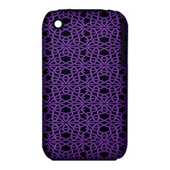 Triangle Knot Purple And Black Fabric Iphone 3s/3gs