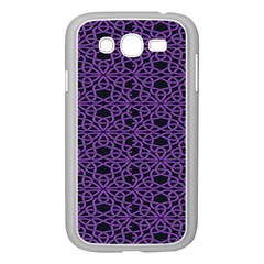 Triangle Knot Purple And Black Fabric Samsung Galaxy Grand Duos I9082 Case (white)