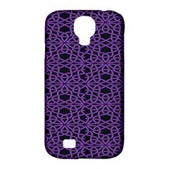 Triangle Knot Purple And Black Fabric Samsung Galaxy S4 Classic Hardshell Case (pc+silicone)