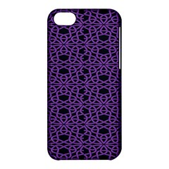 Triangle Knot Purple And Black Fabric Apple Iphone 5c Hardshell Case