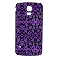 Triangle Knot Purple And Black Fabric Samsung Galaxy S5 Back Case (white)