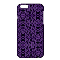 Triangle Knot Purple And Black Fabric Apple Iphone 6 Plus/6s Plus Hardshell Case