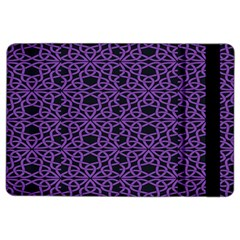 Triangle Knot Purple And Black Fabric Ipad Air 2 Flip