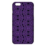 Triangle Knot Purple And Black Fabric iPhone 6 Plus/6S Plus TPU Case Front