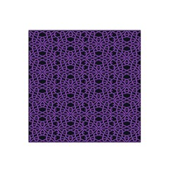 Triangle Knot Purple And Black Fabric Satin Bandana Scarf
