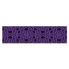 Triangle Knot Purple And Black Fabric Satin Scarf (oblong)