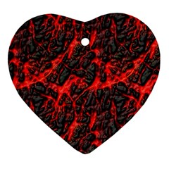 Volcanic Textures  Heart Ornament (two Sides)