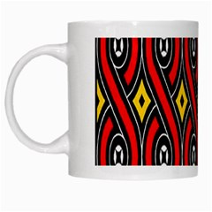 Toraja Traditional Art Pattern White Mugs