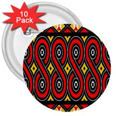 Toraja Traditional Art Pattern 3  Buttons (10 Pack)