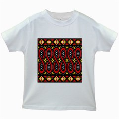 Toraja Traditional Art Pattern Kids White T Shirts