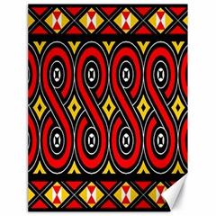 Toraja Traditional Art Pattern Canvas 18  X 24