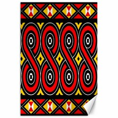Toraja Traditional Art Pattern Canvas 20  X 30