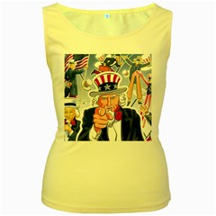 Independence Day United States Of America Women s Yellow Tank Top