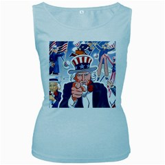 Independence Day United States Of America Women s Baby Blue Tank Top