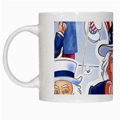 Independence Day United States Of America White Mugs