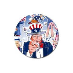 Independence Day United States Of America Magnet 3  (round)