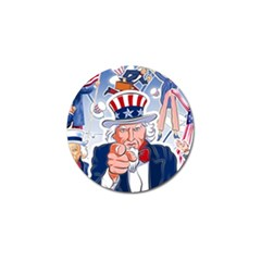 Independence Day United States Of America Golf Ball Marker