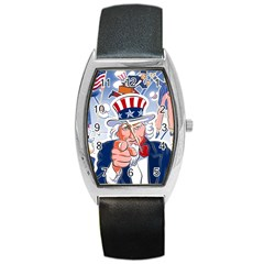Independence Day United States Of America Barrel Style Metal Watch